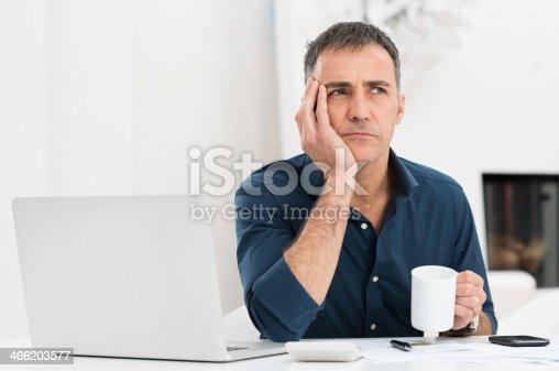 istock Unhappy Man At The Desk 466203577