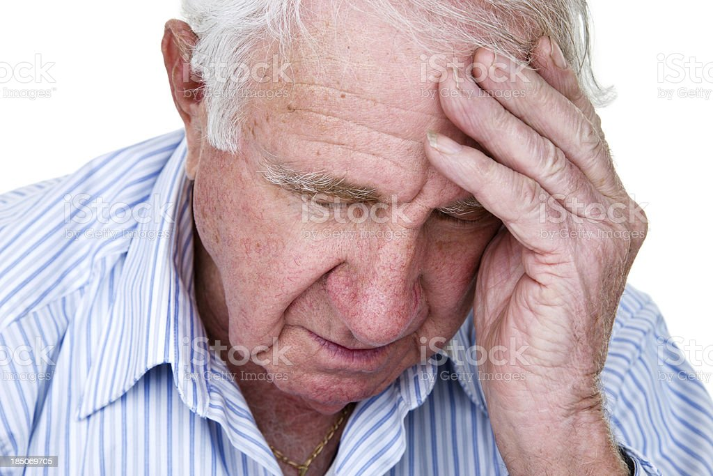 Unhappy man royalty-free stock photo