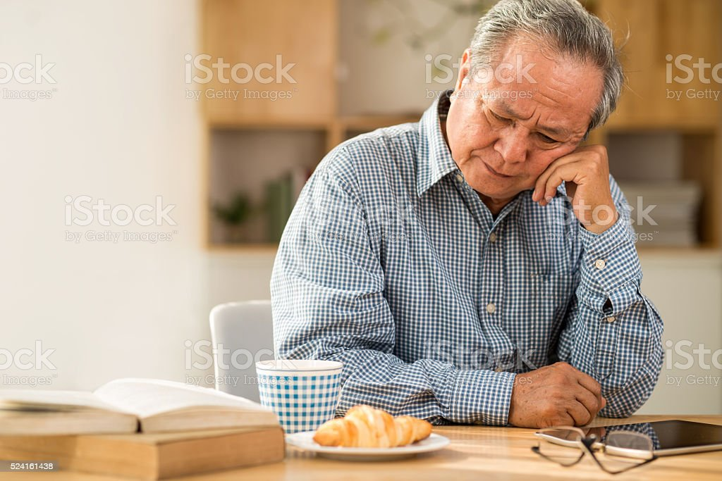 Unhappy man stock photo