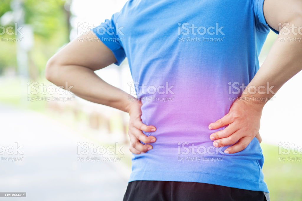unhappy man suffering from Sport injury while exercise, with Lower...