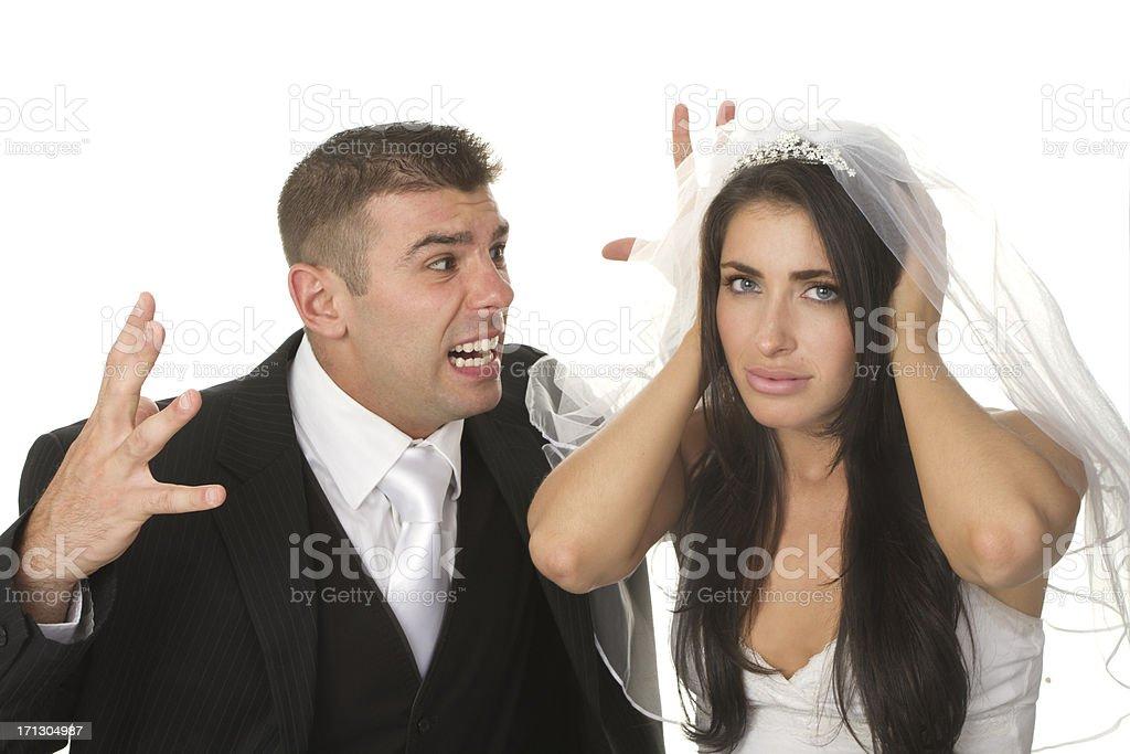 unhappy marriage concept royalty-free stock photo