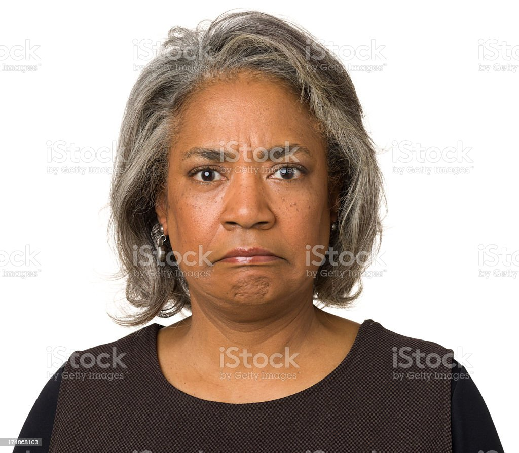 Unhappy Mature Woman royalty-free stock photo