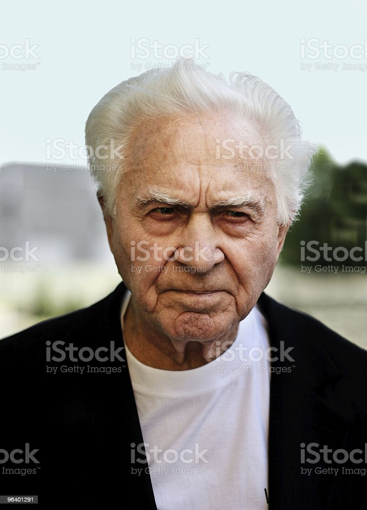 Unhappy old man - Royalty-free Adult Stock Photo
