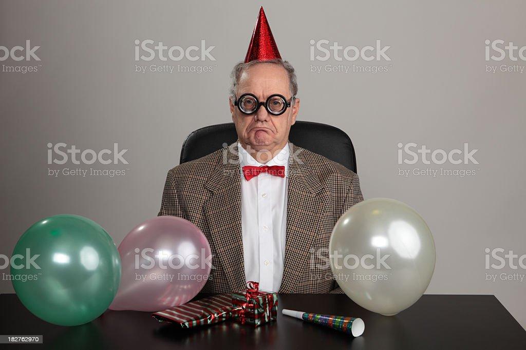 Unhappy party man royalty-free stock photo