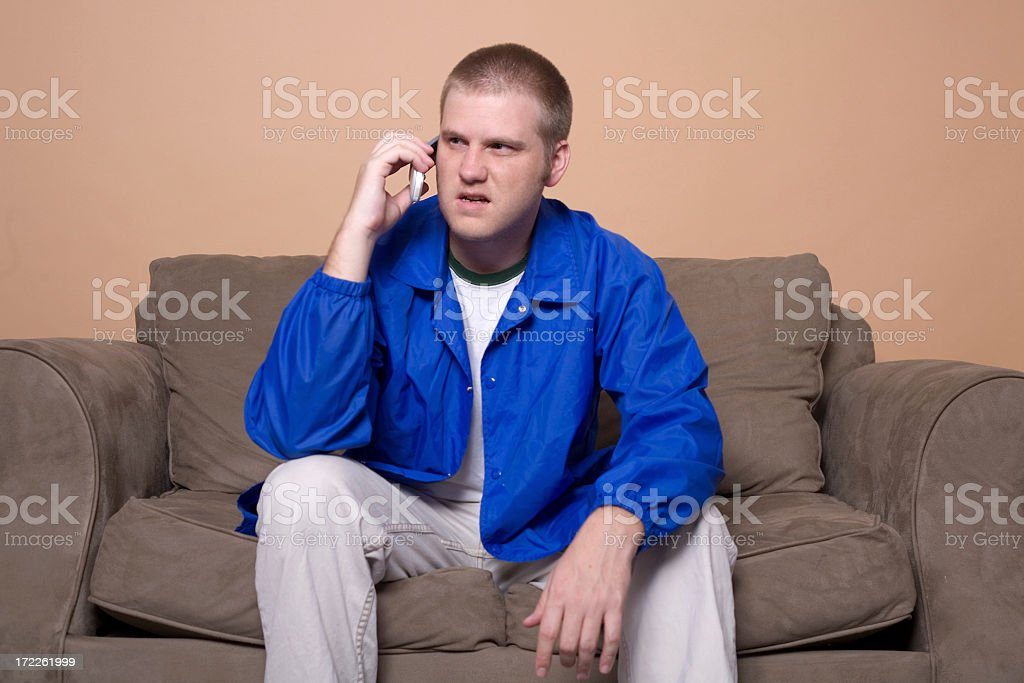 unhappy phonecall royalty-free stock photo