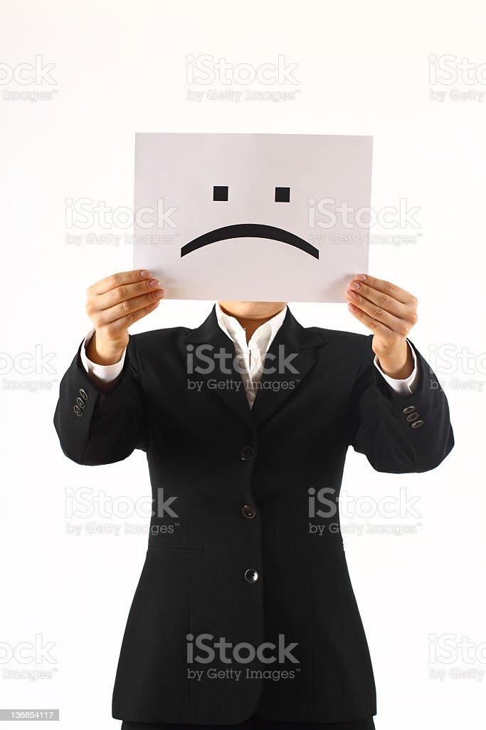 Unhappy royalty-free stock photo