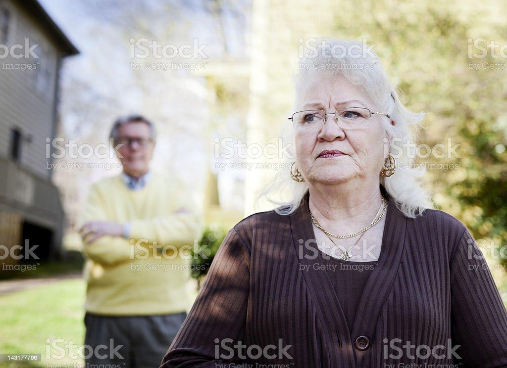Unhappy Senior Couple royalty-free stock photo