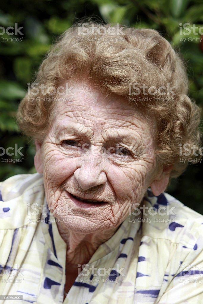 Unhappy Senior royalty-free stock photo