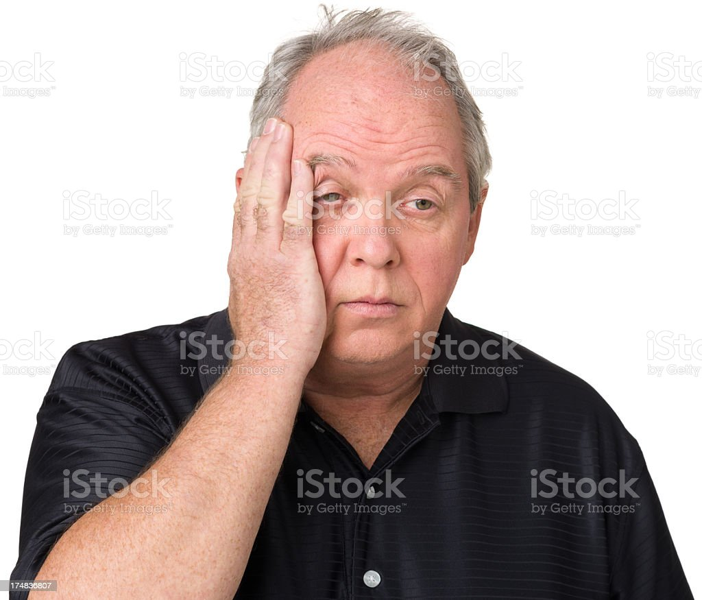 Unhappy Stressed Mature Man royalty-free stock photo