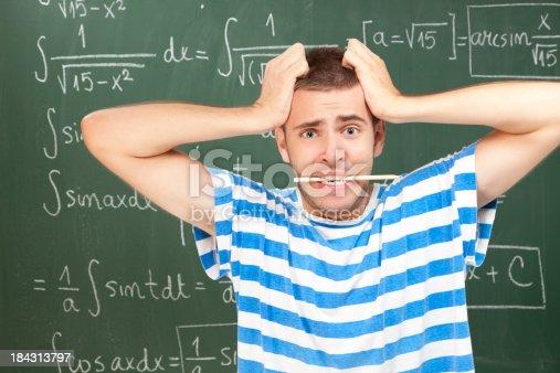 istock Unhappy student 184313797
