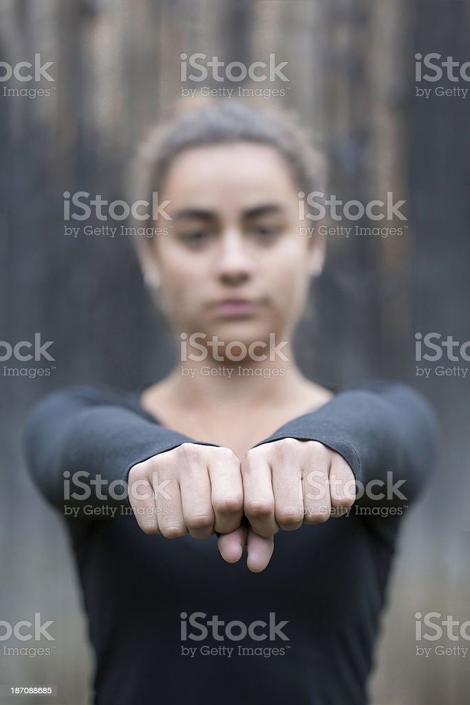 Unhappy Teenage Girl royalty-free stock photo