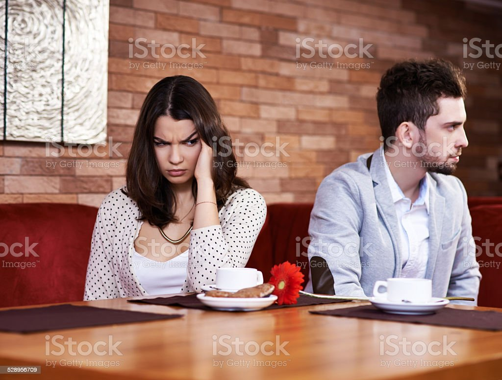 Unhappy together stock photo