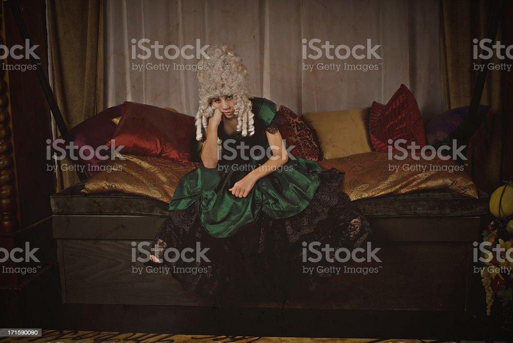 Unhappy Victorian Tomboy stock photo