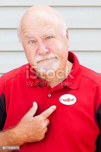 Man wearing an \