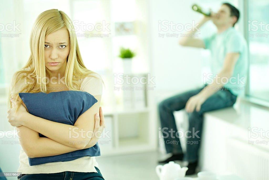 Unhappy wife royalty-free stock photo