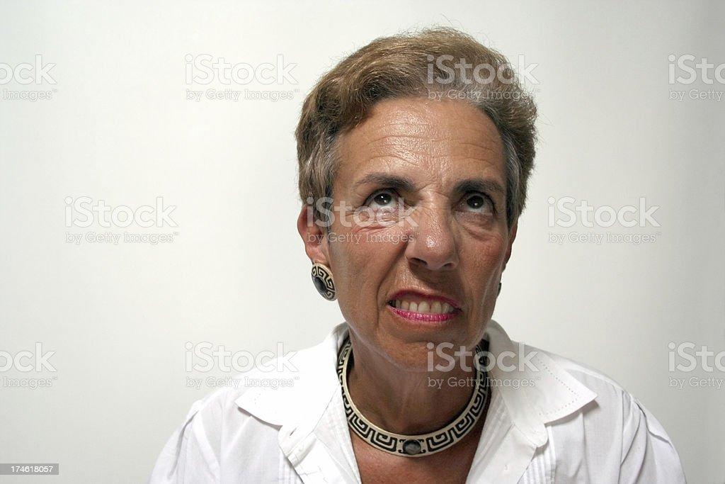 Unhappy Woman royalty-free stock photo
