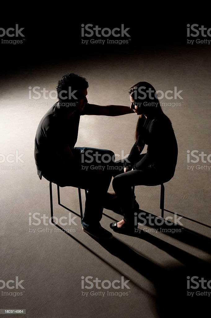 Unhappy young couple royalty-free stock photo