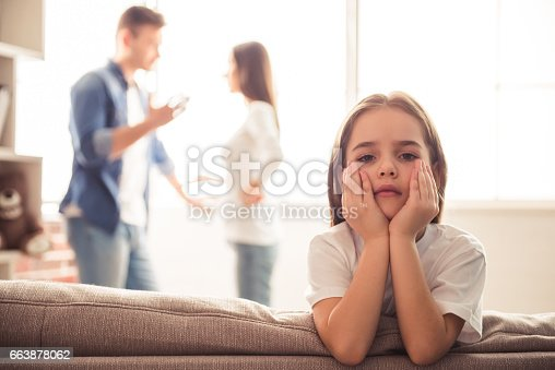 istock Unhappy young family 663878062