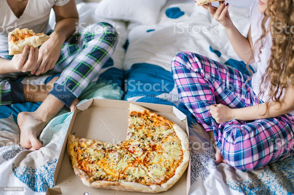 Unhealthy but tasty breakfast stock photo