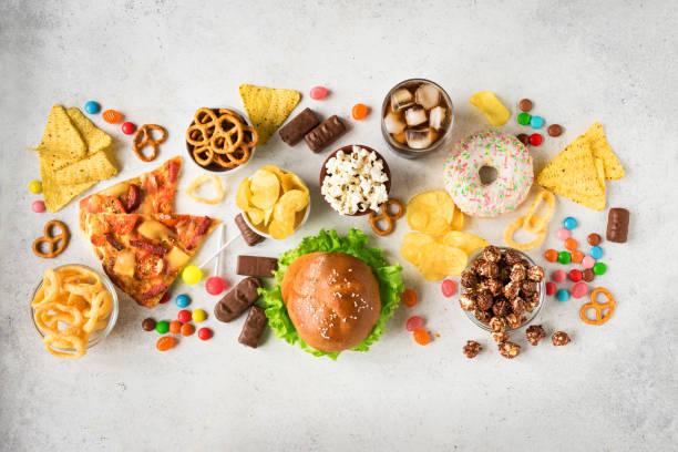 Unhealthy eating stock photo