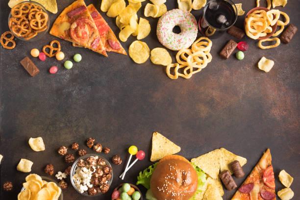 Unhealthy Food stock photo
