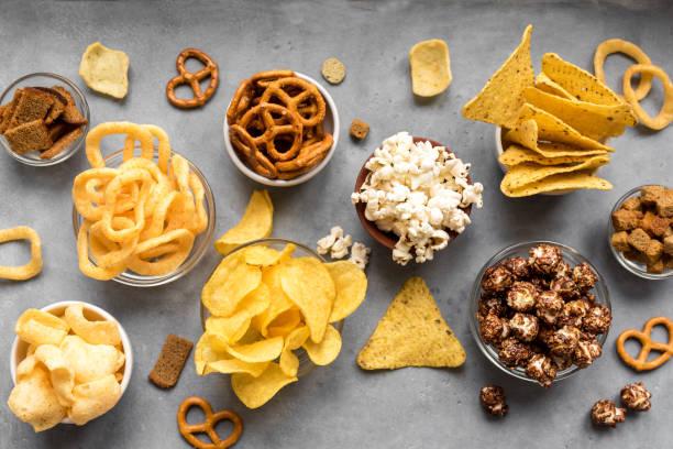 Unhealthy Snacks stock photo