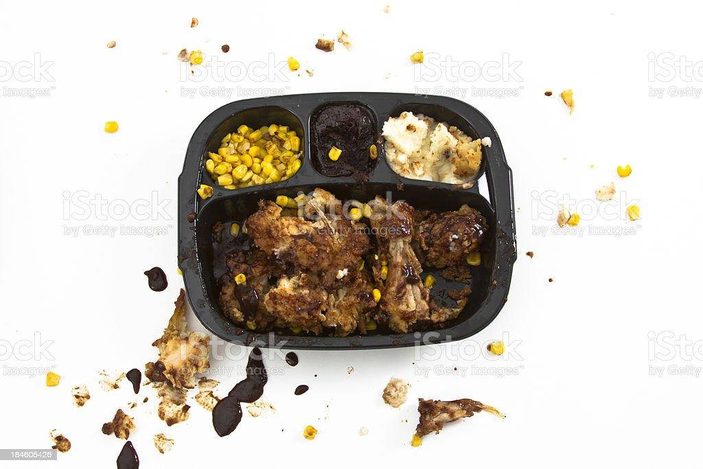 Unhealthy TV dinner stock photo