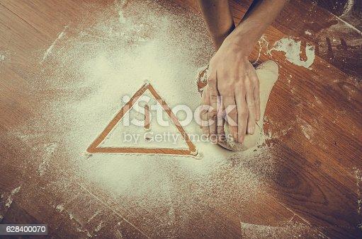 628409126istockphoto Unhealthy white flour or dough 628400070