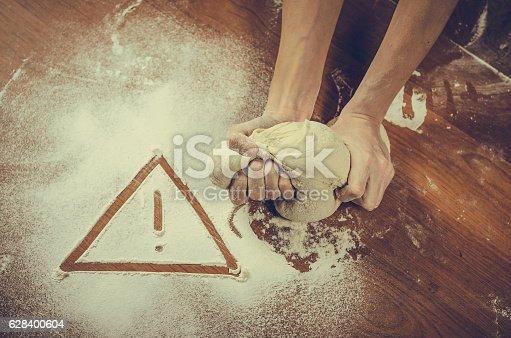 628409126istockphoto Unhealthy white flour or dough 628400604