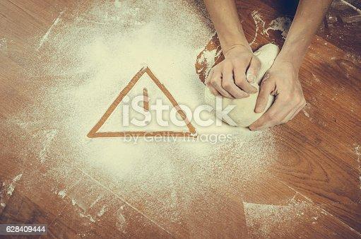 628409126istockphoto Unhealthy white flour or dough 628409444