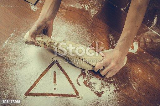 628409126istockphoto Unhealthy white flour or dough 628417268