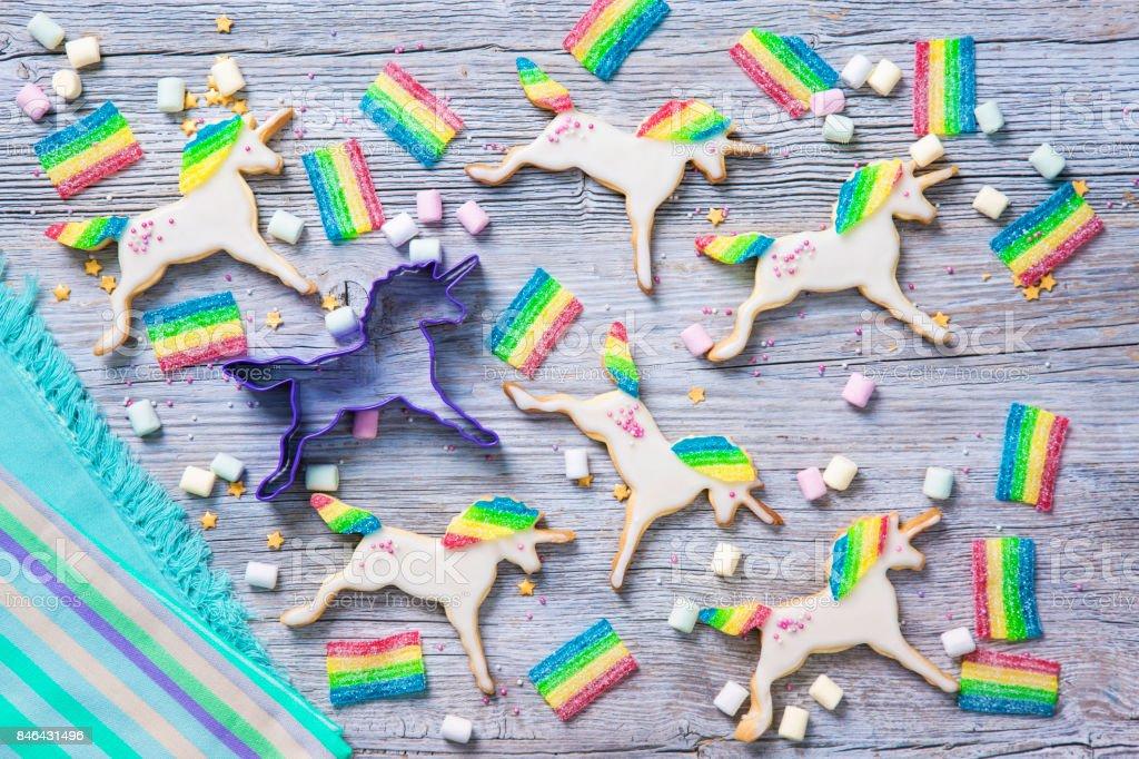 Einhorn-cookies – Foto