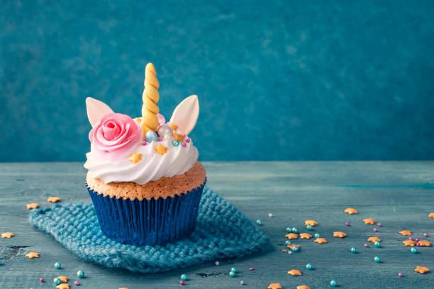 unicorn cupcake - unicorns stock photos and pictures