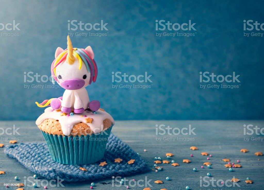 Einhorn-cupcake – Foto