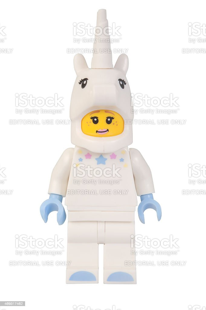 Unicorn Girl Lego Minifigure stock photo