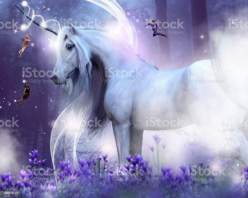 Unicorn Kisses stock photo