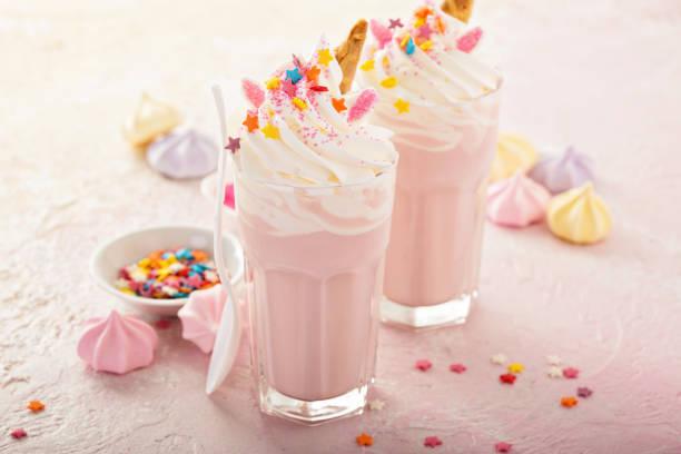 Licorne milkshakes avec paillettes - Photo