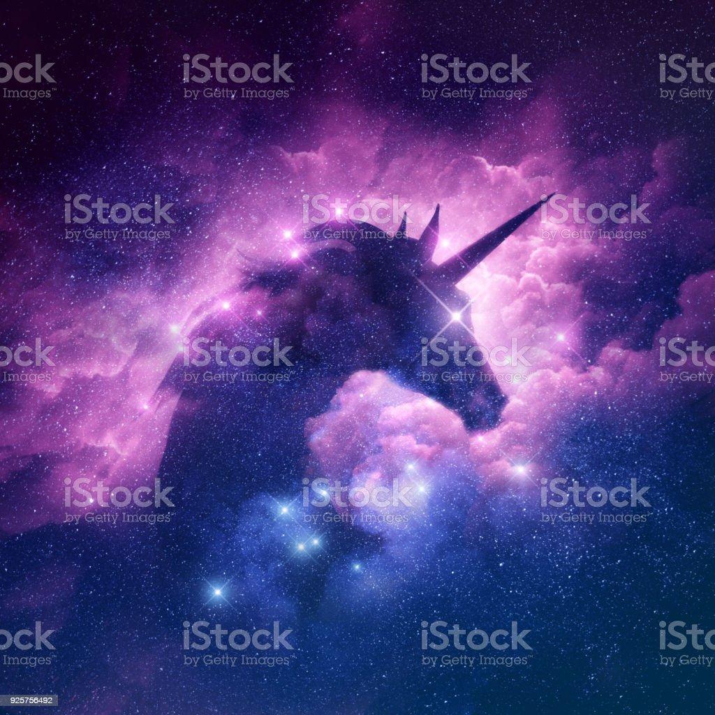 Unicorn Nebula Background stock photo