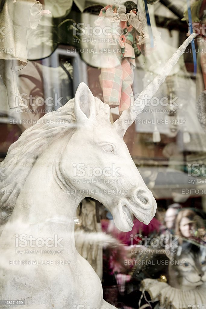 Unicorn statue in a store royalty-free stock photo