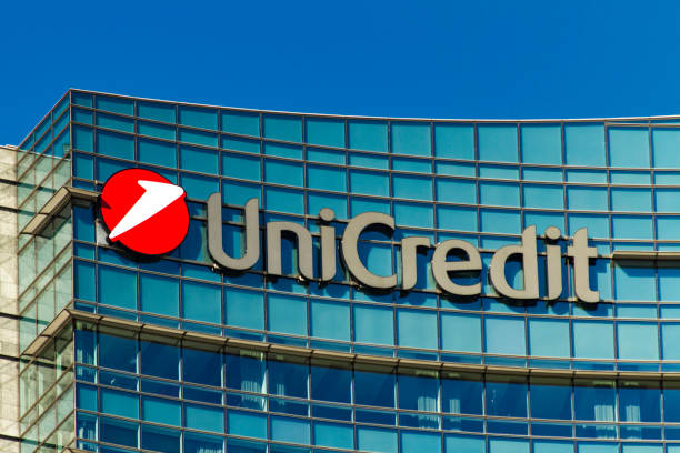 Unicredit Tower in Milan, Italy stock photo