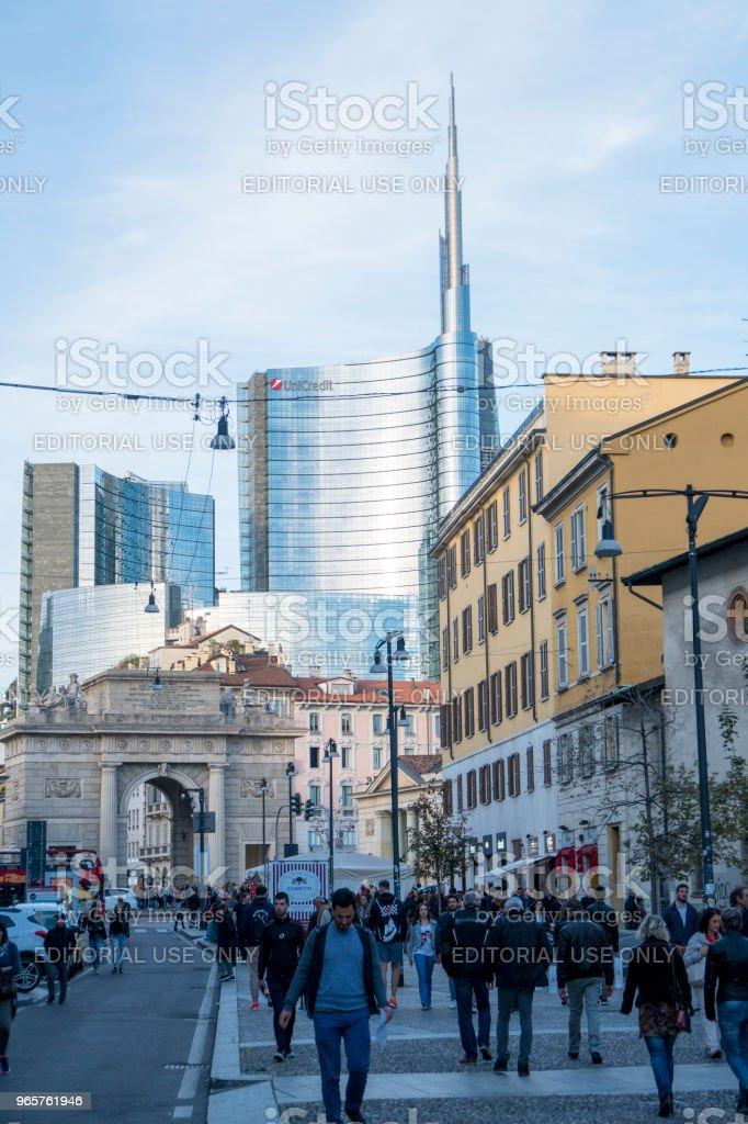 UniCredit toren - Royalty-free Architectuur Stockfoto