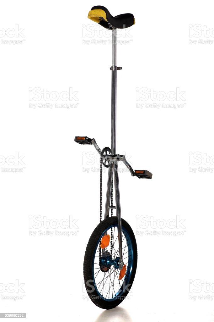 unicycle on a white background stock photo