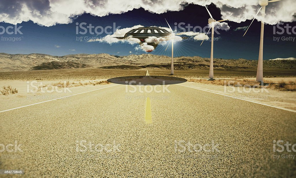 unidentified flying object royalty-free stock photo