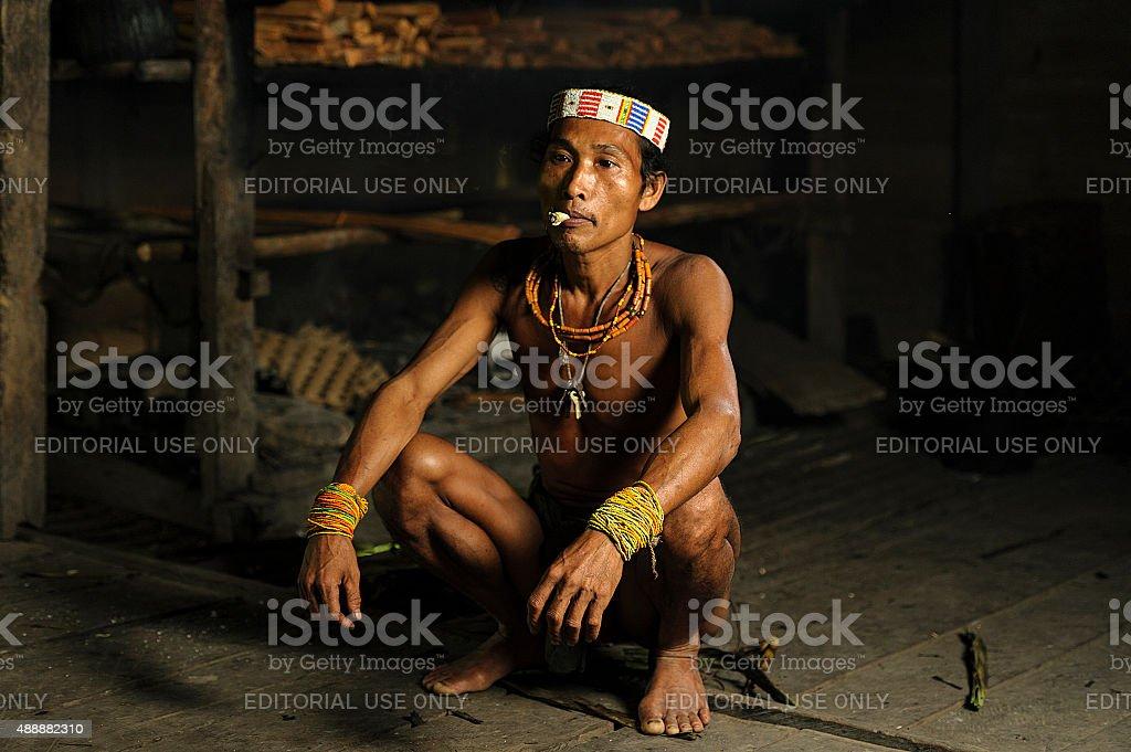 Unidentified Mentawai Tribe. stock photo