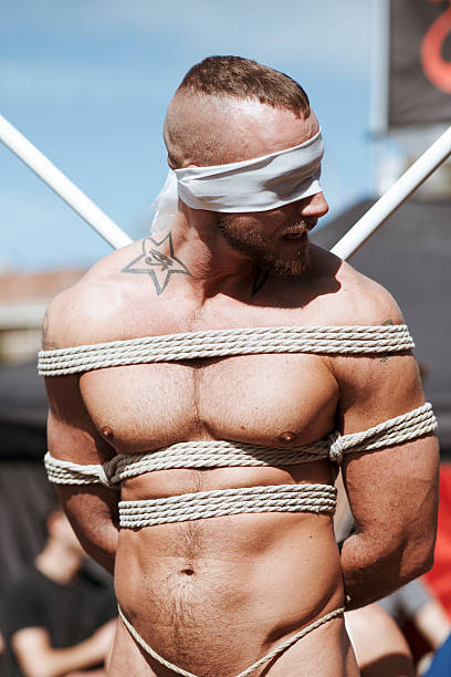 Unidentified people at the annual gay festival Folsom Street Fair stock photo