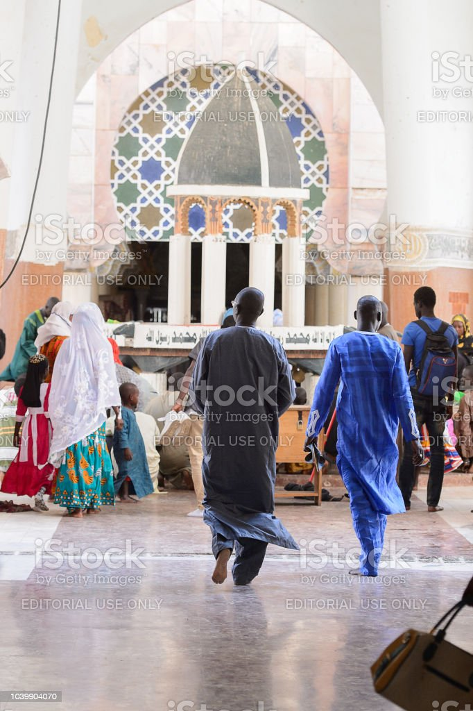 Unidentified Senegalese People In Long Traditional Clothes