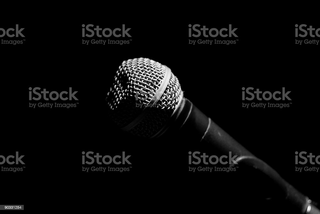 Unidirectional microphone stock photo