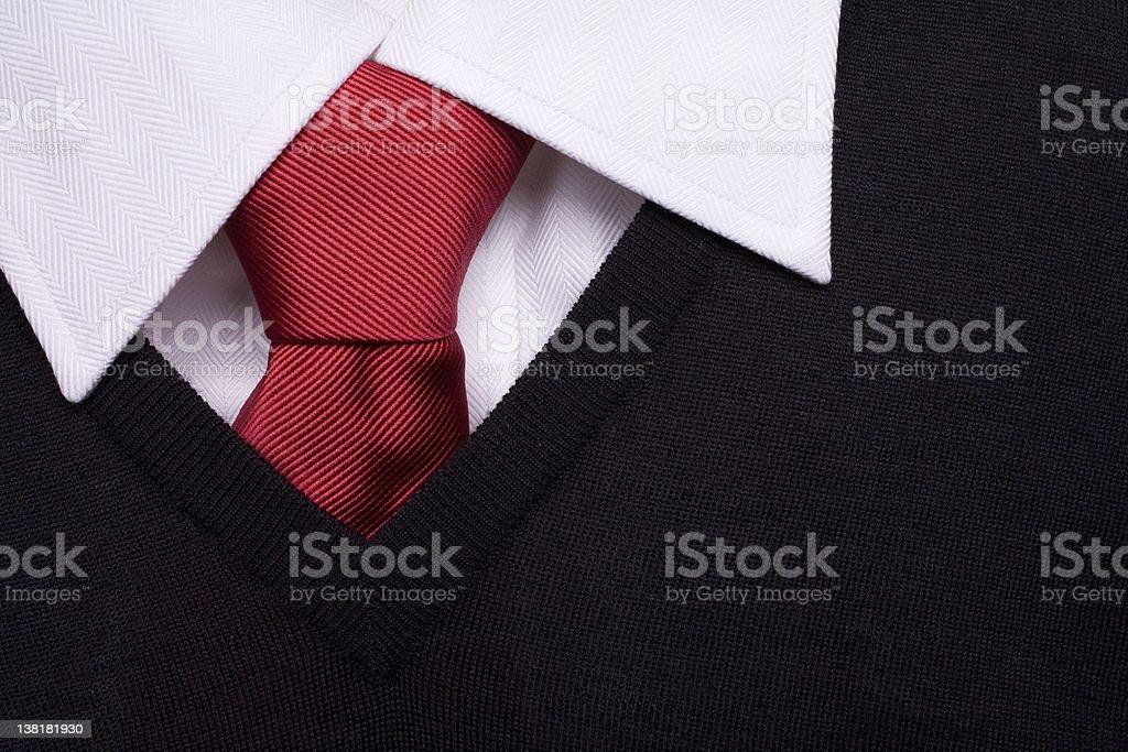 Pull Uniforme Noir Chemise Blanche Et Cravate Rouge Photos Et Plus