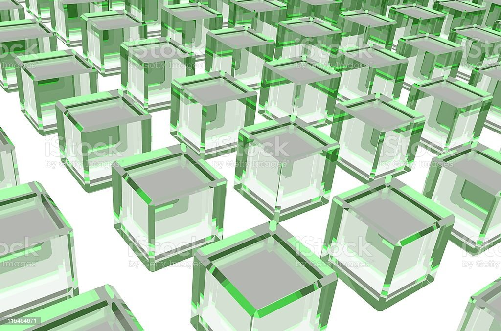 Uniform green glass blocks royalty-free stock photo