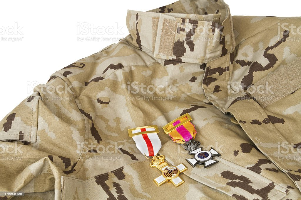 Uniform with its medals royalty-free stock photo